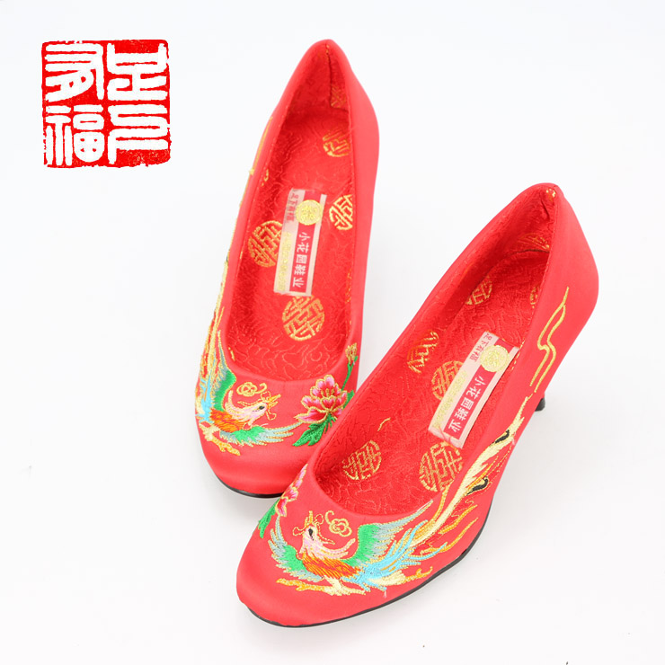 Blessed with a single step ã] small garden qipaos dragon embroidered shoes bridal shoes high heels wedding shoes with shoes 806
