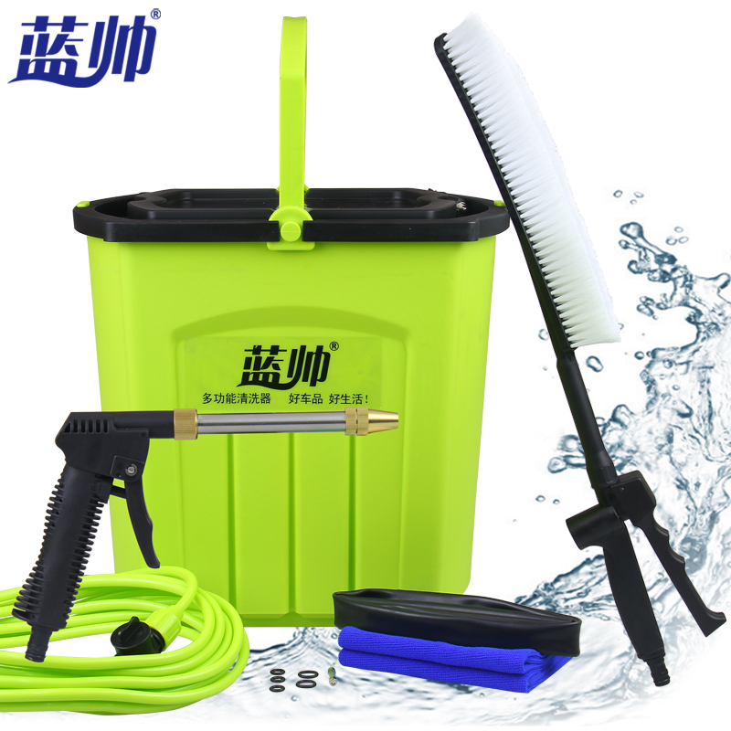 Blue handsome 28l home portable high pressure washing tools washing machine v electric car wash car washing machine