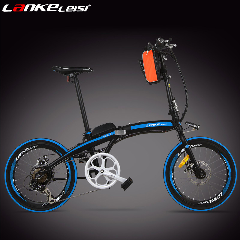 Blue kress 20 inch 36/48 v folding electric bicycle lithium emu electric moped electric car driving on behalf of adults
