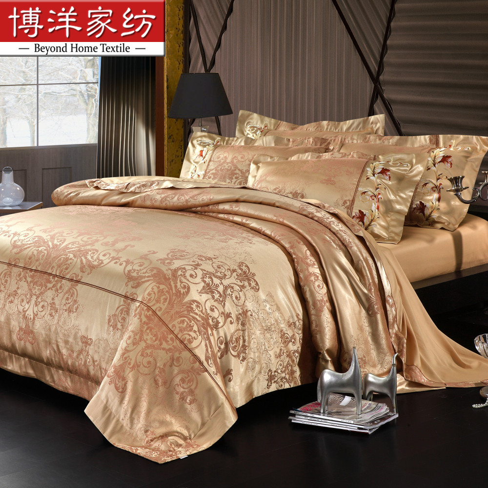 Bo yang textile wedding bedding a family of four european dyed jacquard bedding set-a variety of orfű