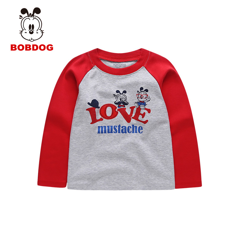 Bob dog boys in children children's cartoon t-shirt long sleeve t-shirt hedging casual t-shirt
