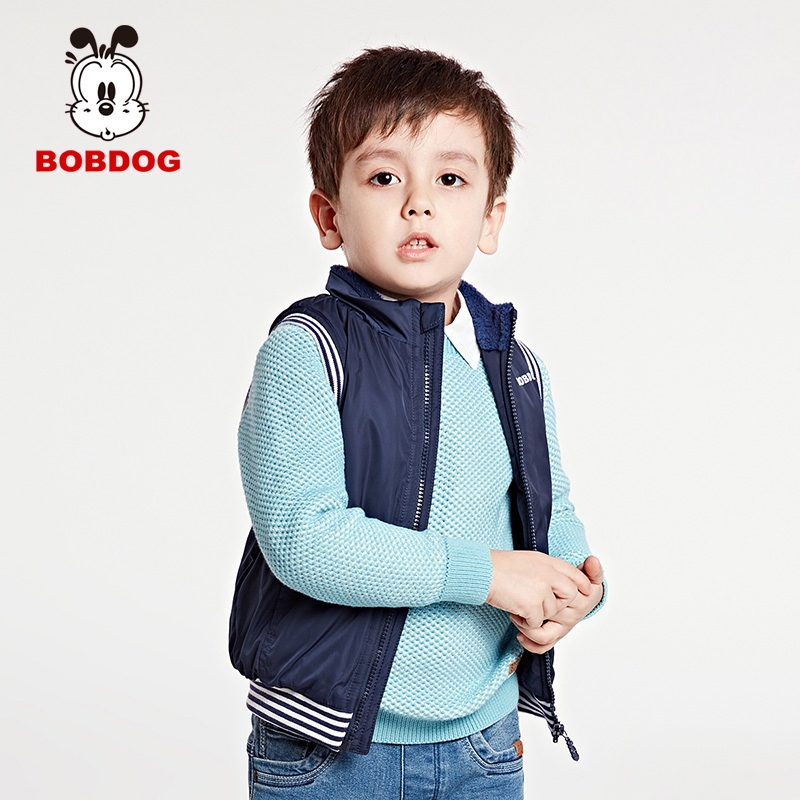 Bobdog 2016 autumn new korean version of the influx of children autumn paragraph boys vest vest in children coat coat