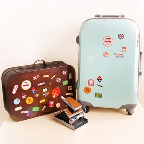 Bogosian korea multifunctional mobile phone leather luggage suitcase stickers stickers dimensional stickers decorative stickers diary