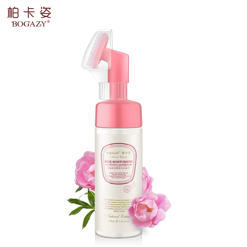 Boka posture rose yun yan renew cleansing foam cleanser female deep clean up water moisturizing oil control to close the pores