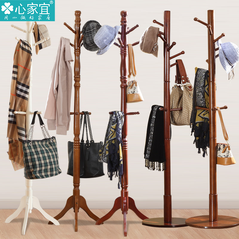 Bold floor wood coat rack clothes rack hanger creative fashion simple living room bedroom simple european clothes rack