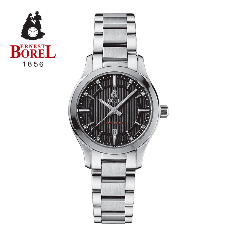 Borel watches female form fashion round stainless steel strap waterproof watch ms. accor your gas code rhyme series