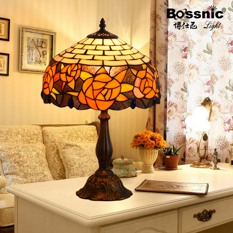 Boshi ni creative cozy den lamp european sea shells bedroom bedside table lamp decorated living room
