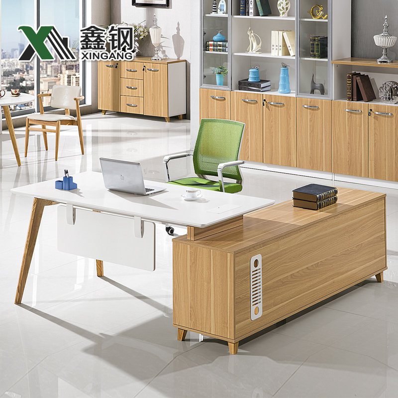 Boss table desk office furniture guangzhou office furniture modern minimalist combination of solid wood desk desk desk desk manager desk supervisor