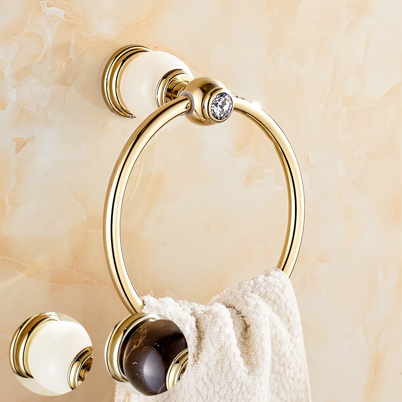 Bowlder all copper and gold towel ring towel hanging towel ring towel ring towel hanging ring european natural marble ring