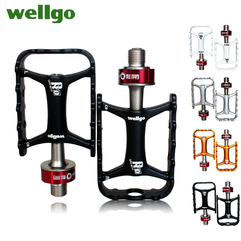 Boxed ludwig wellgo qrd-m111 quick release axle quick release folding mountain bike pedal pedal set foot pedal peilin bearing