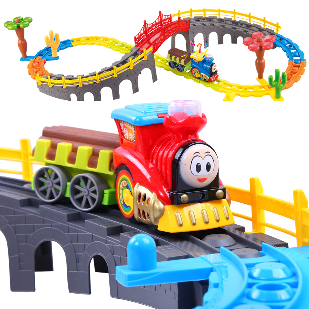 Boy thomas train track electric rail car track toy car toy car racing track
