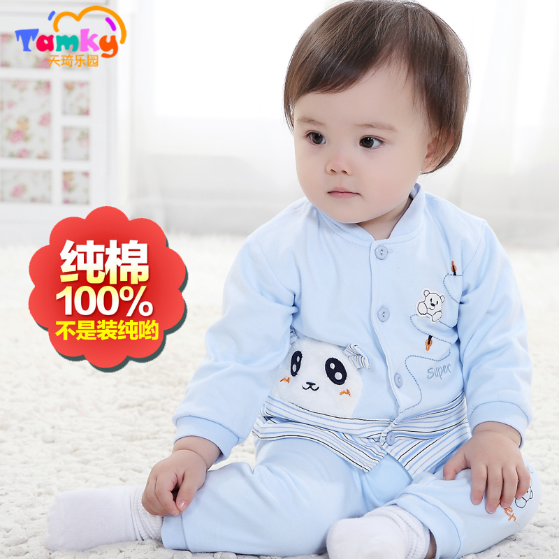 Boys 2016 spring models male baby out clothes suit baby clothes cotton 0-1-2 years old children's spring and autumn
