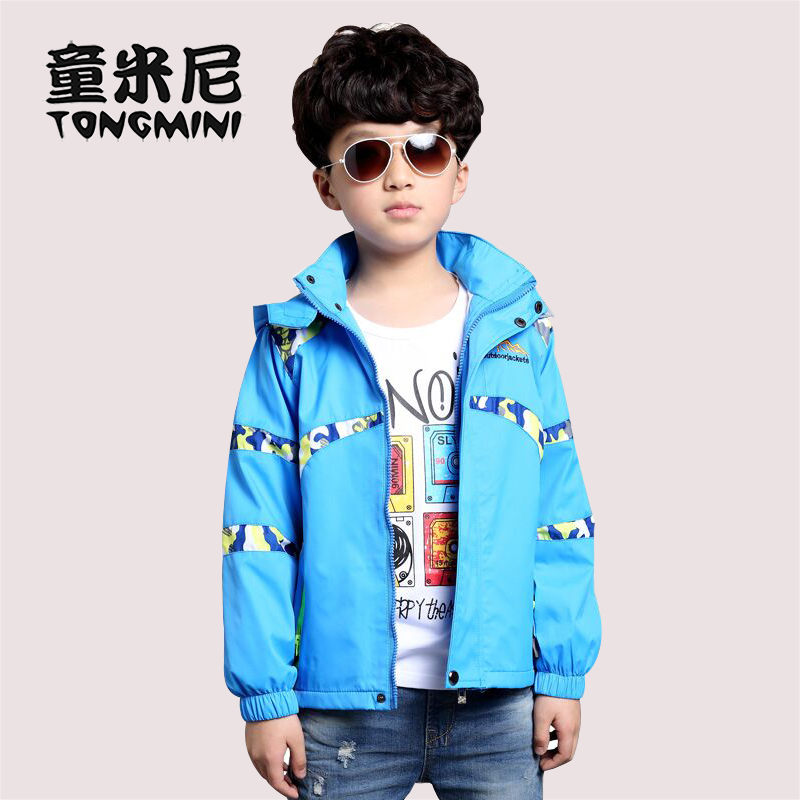Boys jacket spring and autumn 2016 new children's jackets big virgin outdoor sports windproof spring tide kids