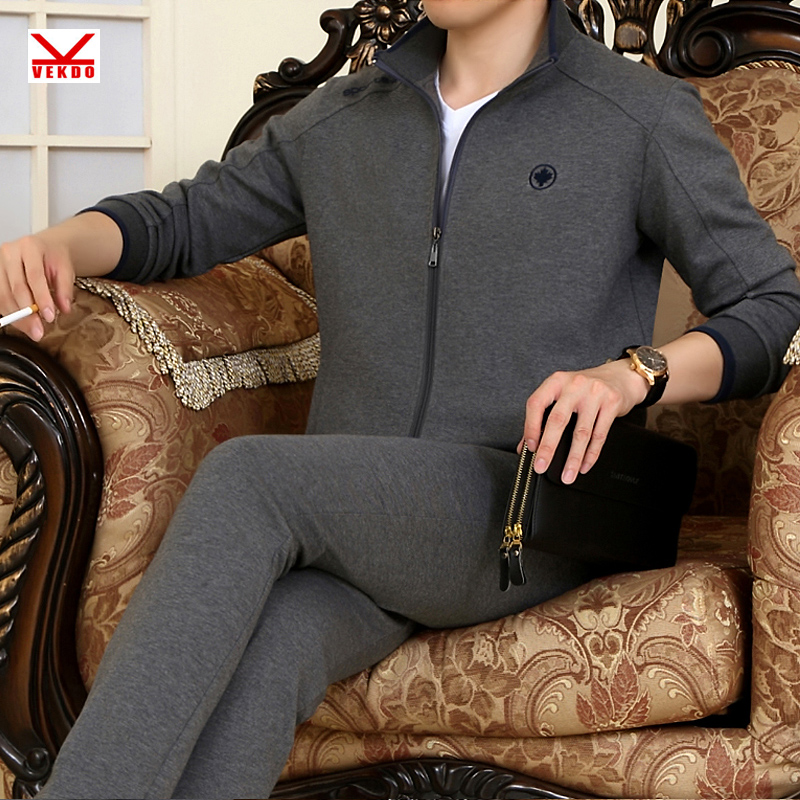 Brand middle-aged father loaded big yards cardigan sportswear casual sportswear for men sports suit running fitness clothing cotton