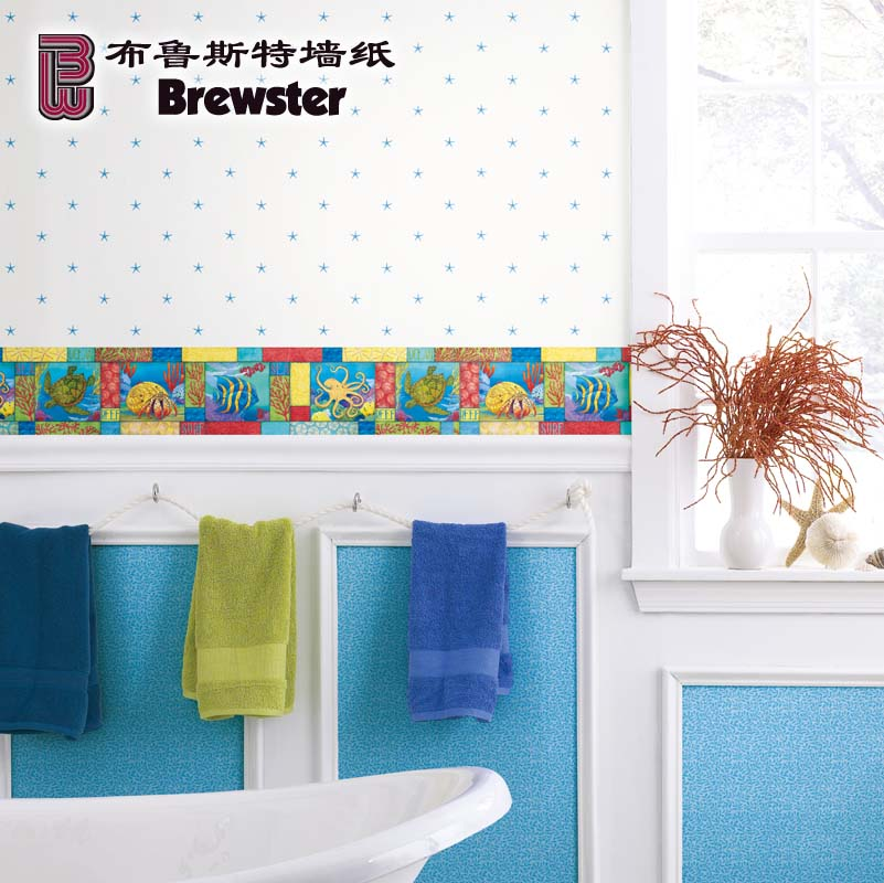 Brewster brewster imported pure paper wallpaper wallpaper living room bedroom wallpaper bihaijinsha DLR47543