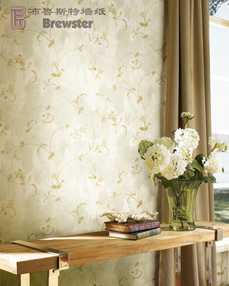 Brewster brewster imported pure paper wallpaper wallpaper traditional marriage room bedroom love violin coast ARS26091