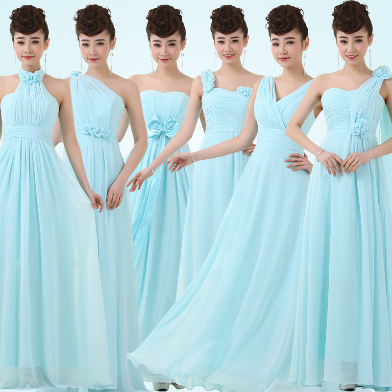Get Quotations Bridesmaid Dresses 2017 New Spring Dress Bride Wedding Toast Clothing Sisters Skirt Solid Color