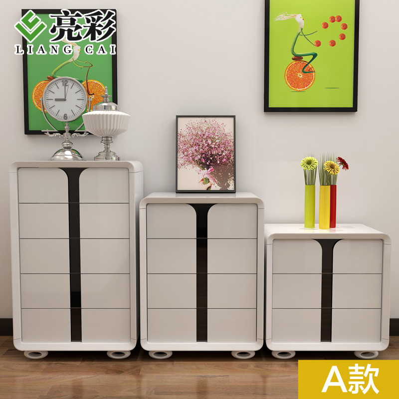 Brightly colored modern minimalist three four doo doo cabinet chest of drawers chest of drawers chest of drawers combination lockers storage cabinets
