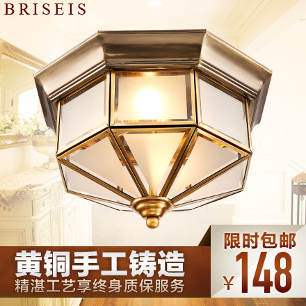 Briseis euclidian full copper lamps living room lamps led ceiling bedroom hall wen xin modern minimalist atmosphere