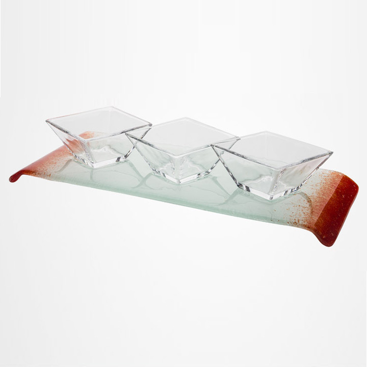 Buffet pastry tray kit | glass | glass dish snack tray food tray kit sets LM-115224A