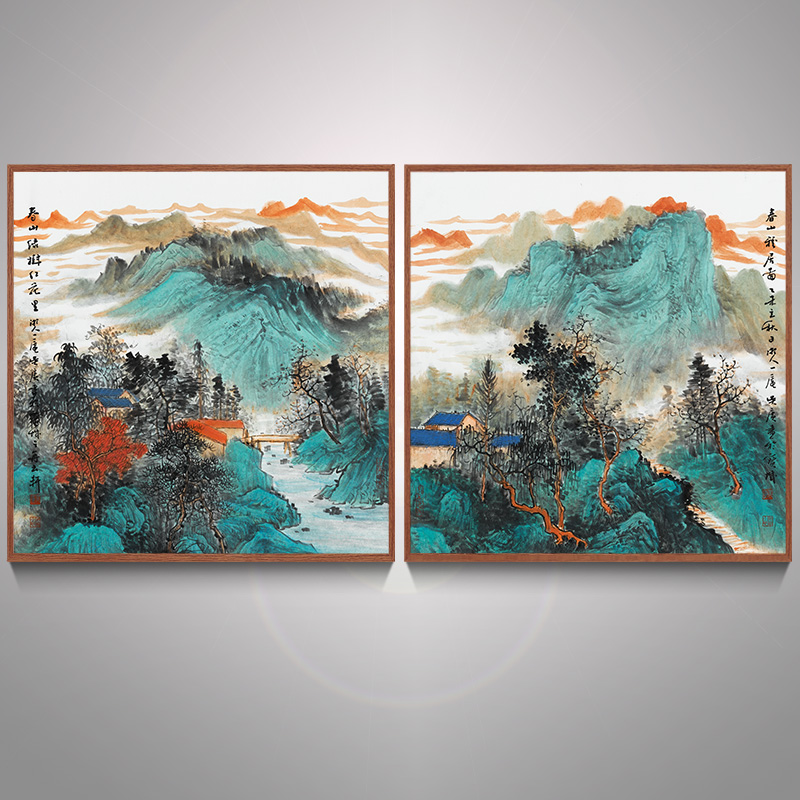Bulgari landscape landscape painting calligraphy paintings decorative painting chinese style living room restaurant bedroom study of castle peak agile figure