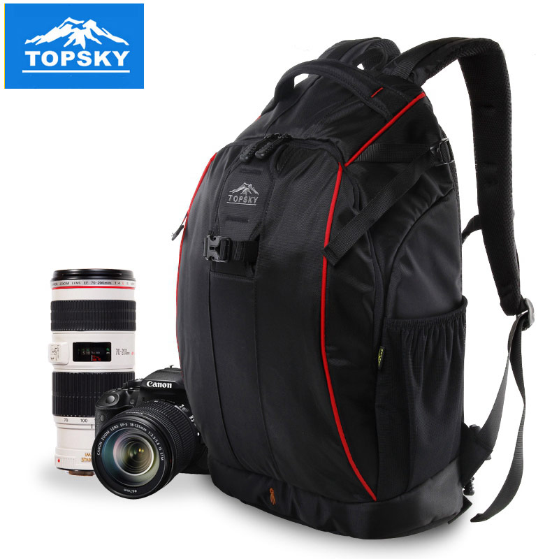 Burglarproof burglarproof topsky outdoor digital slr camera bag shoulder backpack multifunctional travel camera bag 30l