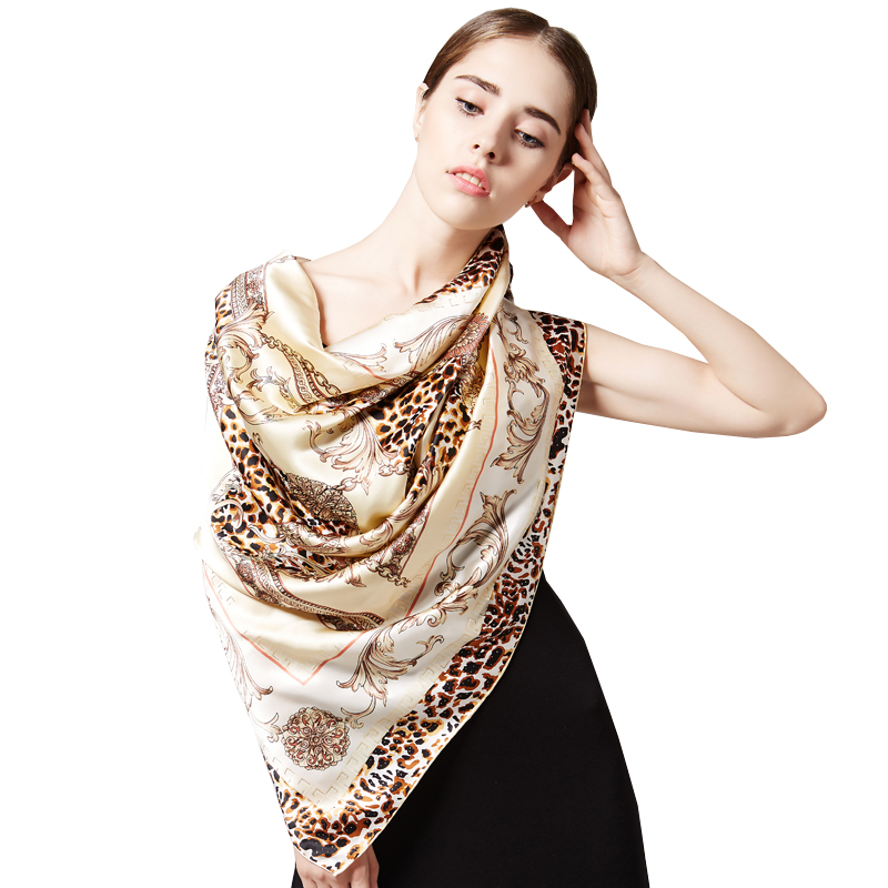 Buta autumn and winter scarves silk scarves ms. large square silk satin scarf silk scarf shawl spring and autumn