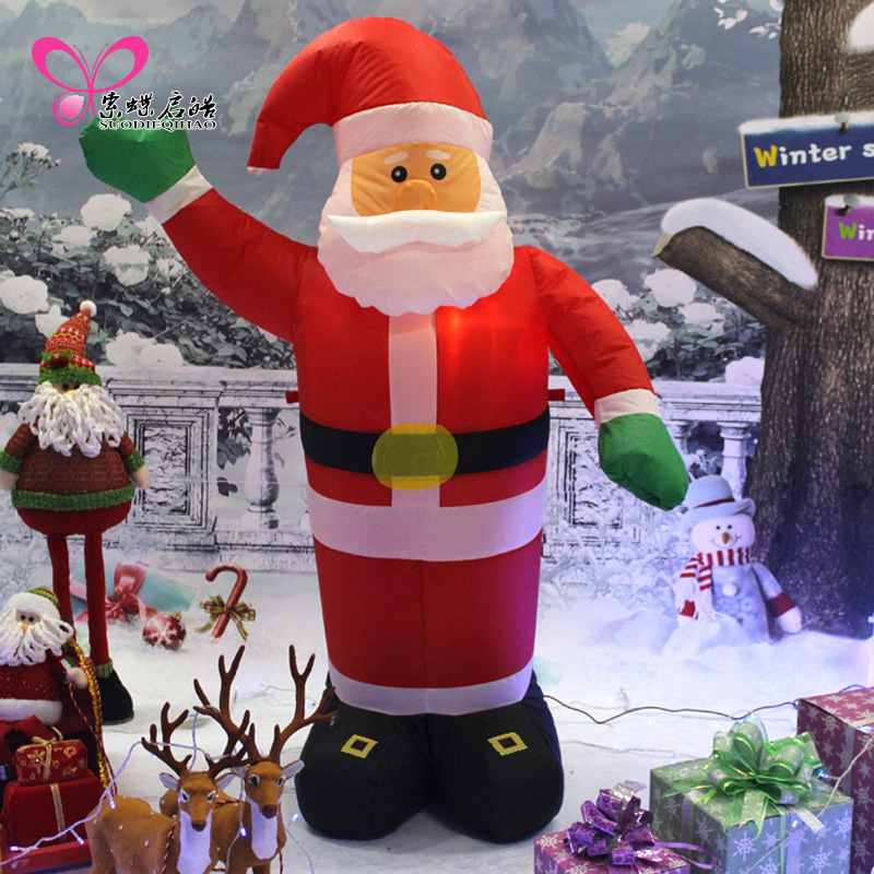 Cable 1.8 m inflatable santa claus christmas skipperling large welcome old wine shop mall christmas decorations