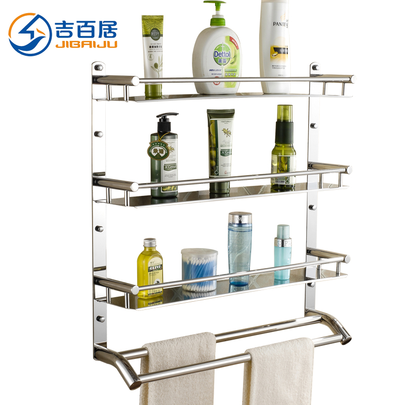 Cadbury ranks bathroom wall shelving racks 304 stainless steel bathroom toilet bathroom shelf