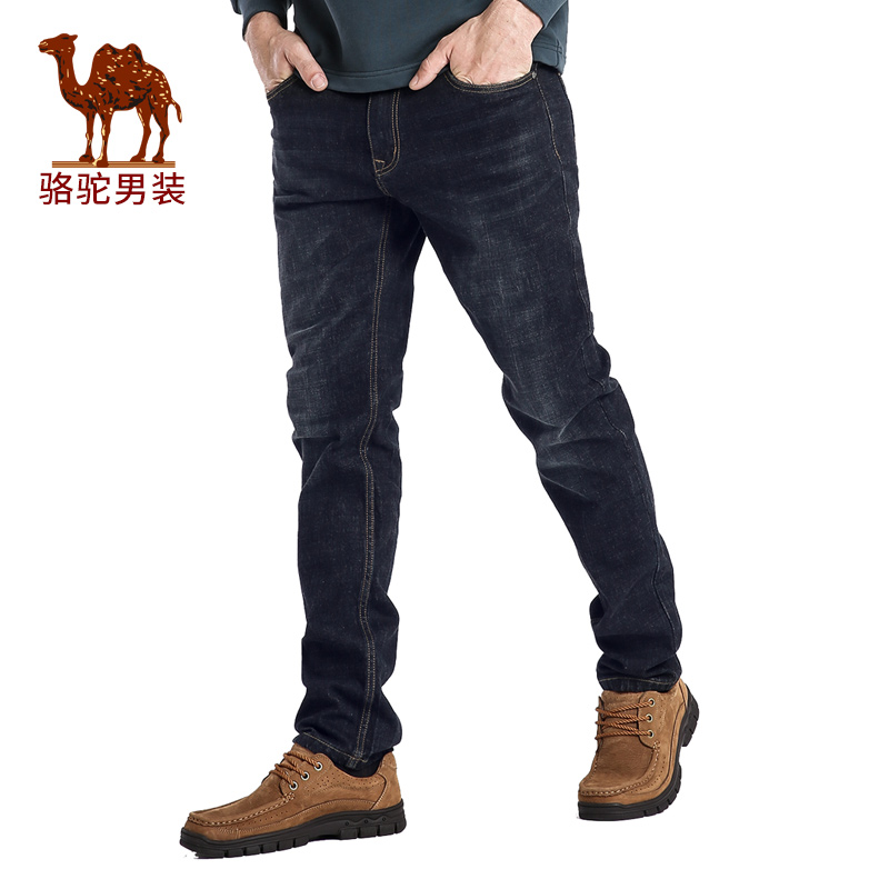 Camel/camel men's 2016 autumn new micro elastic waist zipper business casual jeans men trousers