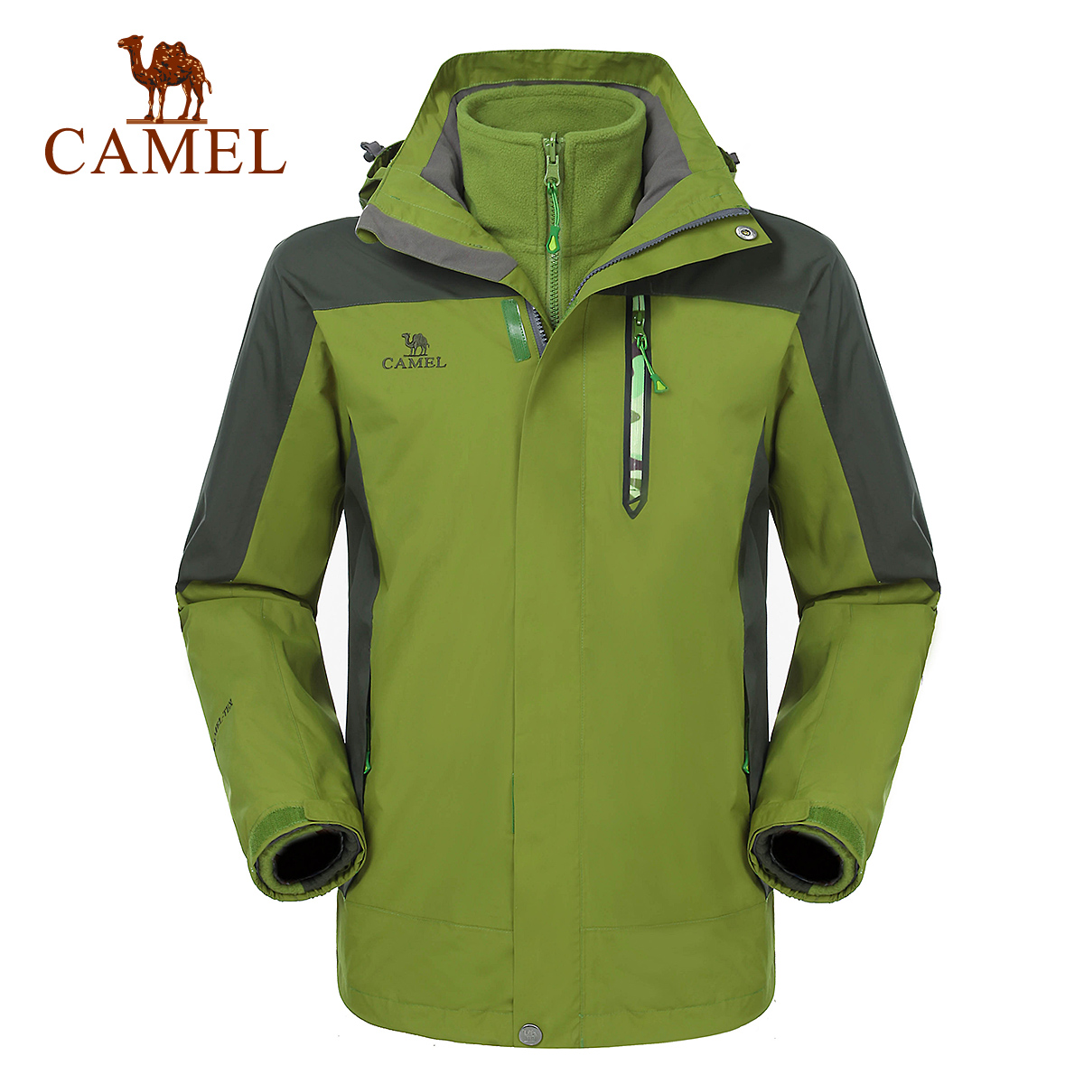Camel camel outdoor jackets mens waterproof windproof warm piece triple jackets