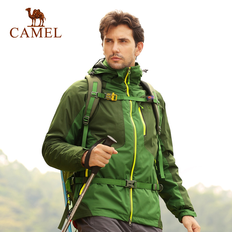 Camel camel outdoor jackets winter spell color breathable warmth piece triple mens jackets