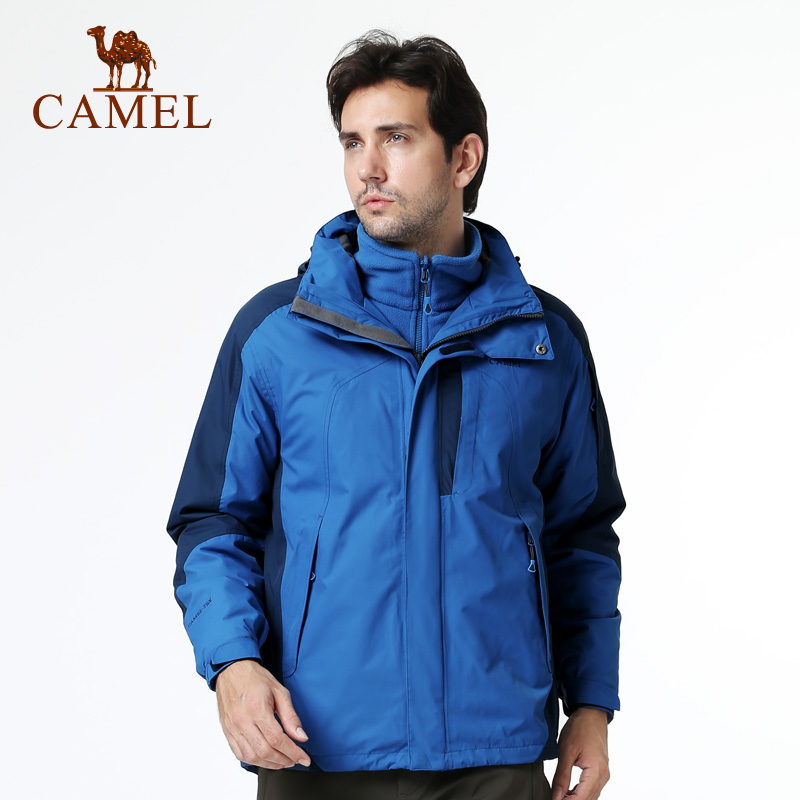 Camel camel outdoor winter jackets mens jackets piece triple warm waterproof windproof