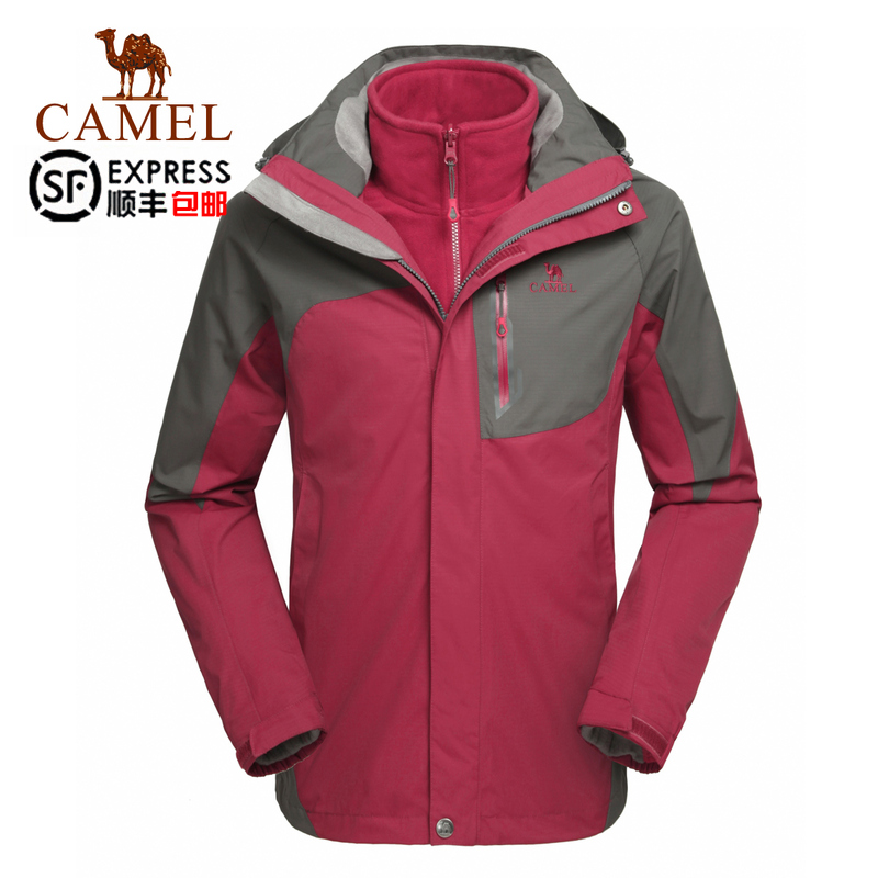 Camel outdoor jackets 2014 autumn and winter men's waterproof and breathable triple jackets men A4W217010