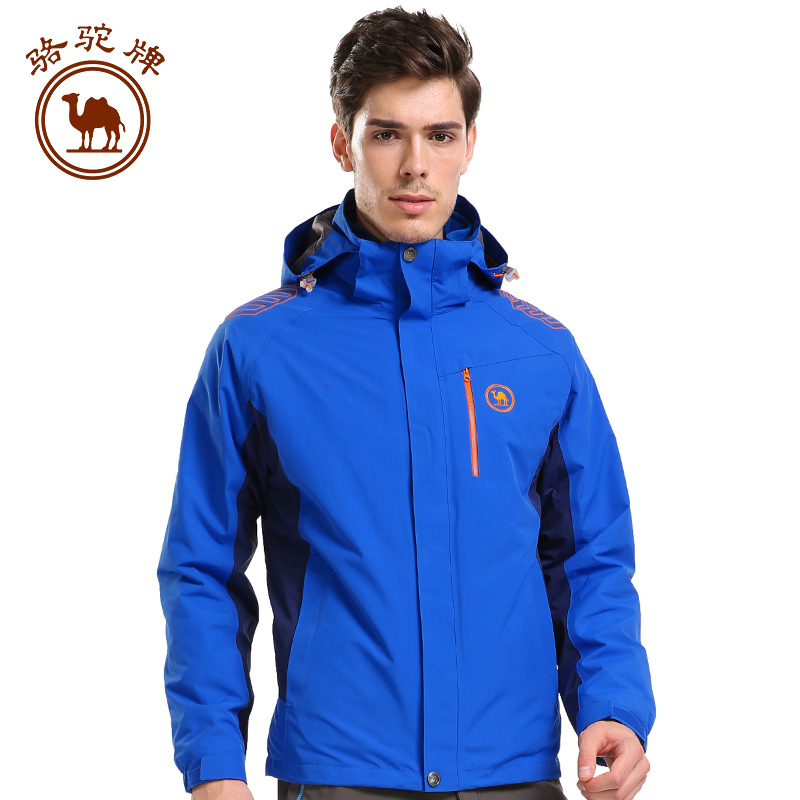Camel outdoor jackets windproof nylon piece fall and winter jackets mens jackets triple warm