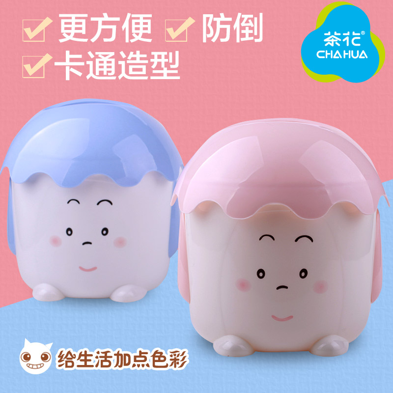 Camellia plastic household living room dining creative cute cartoon pumping tray bathroom toilet tissue box reel spool