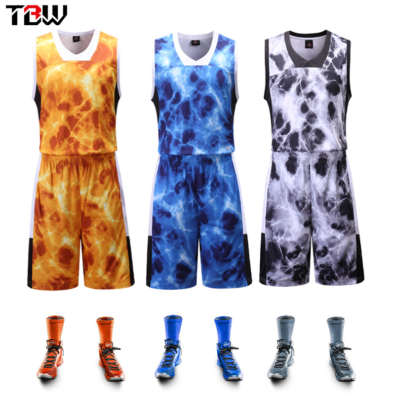 fb8dbeaa653 Get Quotations · Camouflage male basketball jersey basketball clothes to buy  custom basketball clothing basketball clothes suit training wear