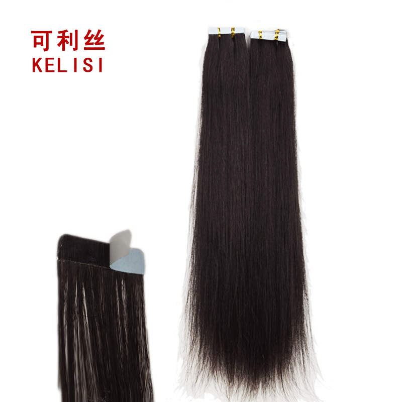 Can liss nano hair real hair trace invisible hair piece girls real hair straight hair piece hair piece a color