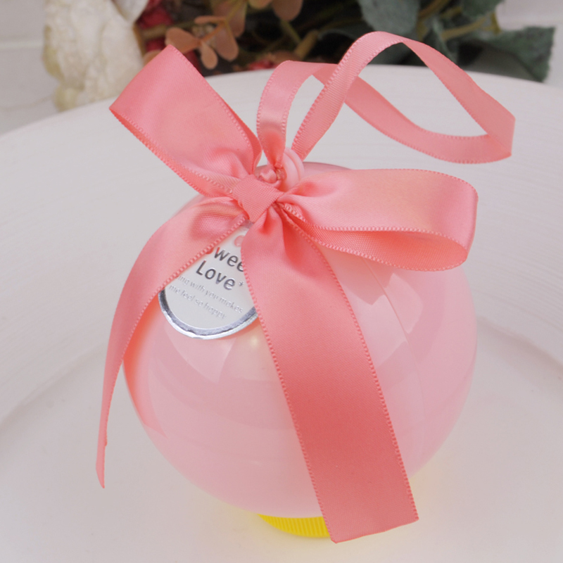 Candy colored ball candy box european creative personality korean wedding supplies candy box candy bag gift bag
