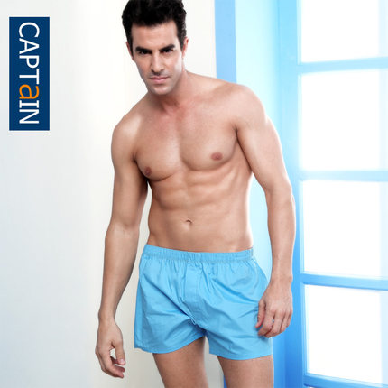 Captain summer cotton male shia luo pants loose pajama pants casual home shorts breathable male