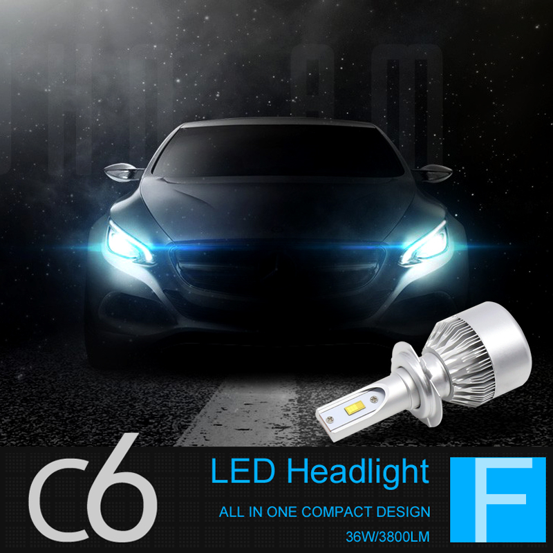 Car headlight led headlight bulb headlight high beam lights near c6 H1H7H119005 common modification