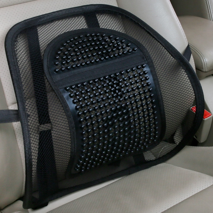Car headrest pillow lumbar pad cushions office car lumbar cushion summer ice silk car lumbar massage breathable comfort