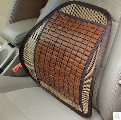 Car lumbar cushion summer car back lumbar cushion ice silk waist lumbar pillow car seat cushions breathable bamboo cushions