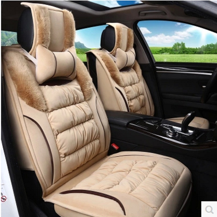 Car seat cover four seasons general seat cover 7 special car seat van winter plush seat cover seat cover the whole car mats