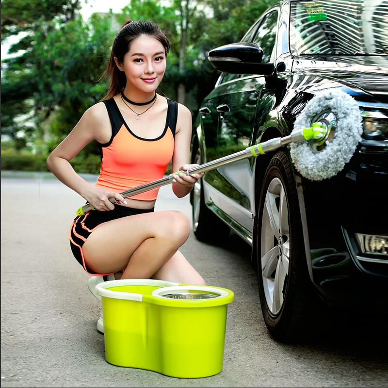 Car wash mop telescoptic cotton soft bristle brush car wash cleaning tools designed with a brush car wash cleaning mop brush
