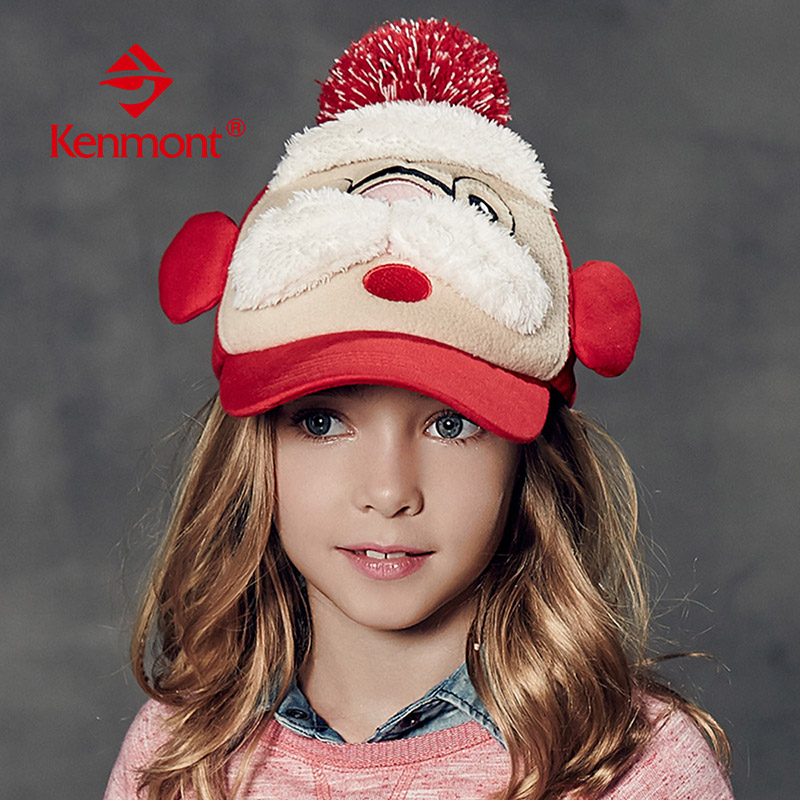 Carmon aged six to nine girls christmas hats cute child in autumn and winter baseball cap hat korean wave of cards through the girls winter hat