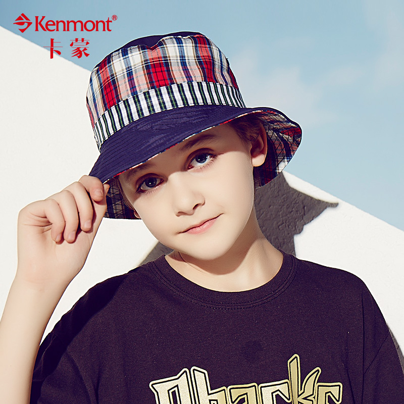Carmon aged six to nine large brim hat boys spring and summer children's hat hat uv sun hat outdoors