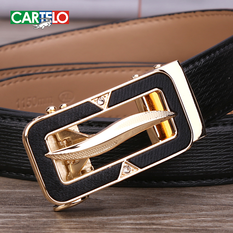 Cartelo genuine leather belt ms. belt female candy color automatic belt buckle belt fashion casual belt