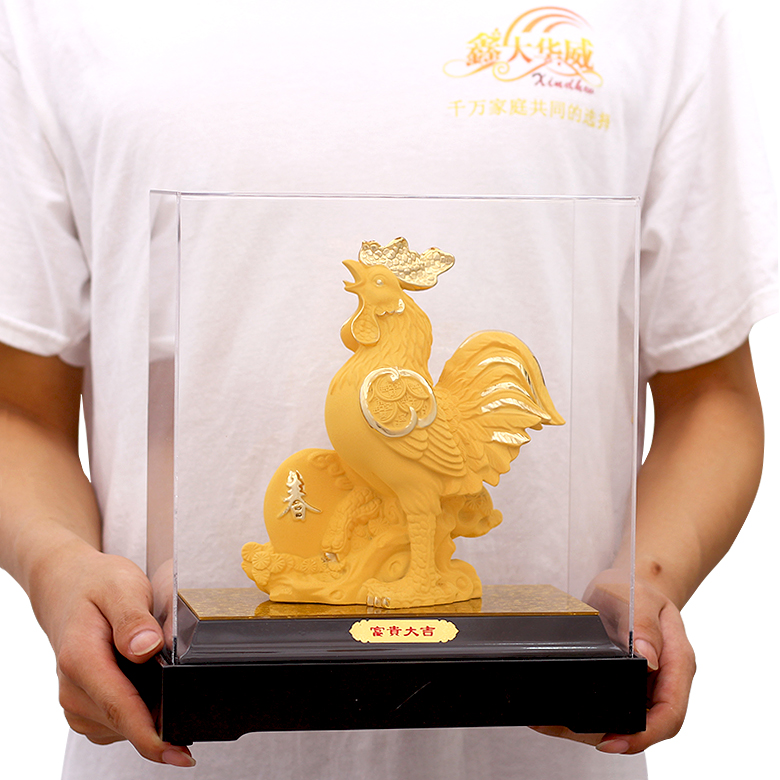 Cashmere alluvial gold 12 zodiac rat ox tiger rabbit snakes pig horse sheep pig monkey jigou twelve zodiac ornaments Home accessories living room