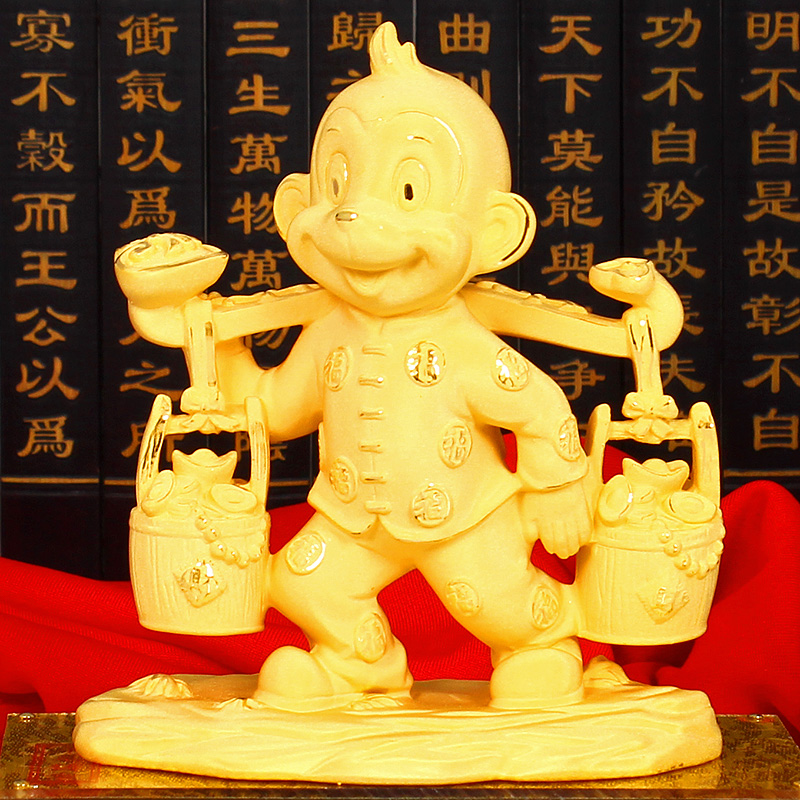 Cashmere alluvial gold ornaments monkey monkey twelve lunar new year of the monkey monkey year mascot home decoration business gifts